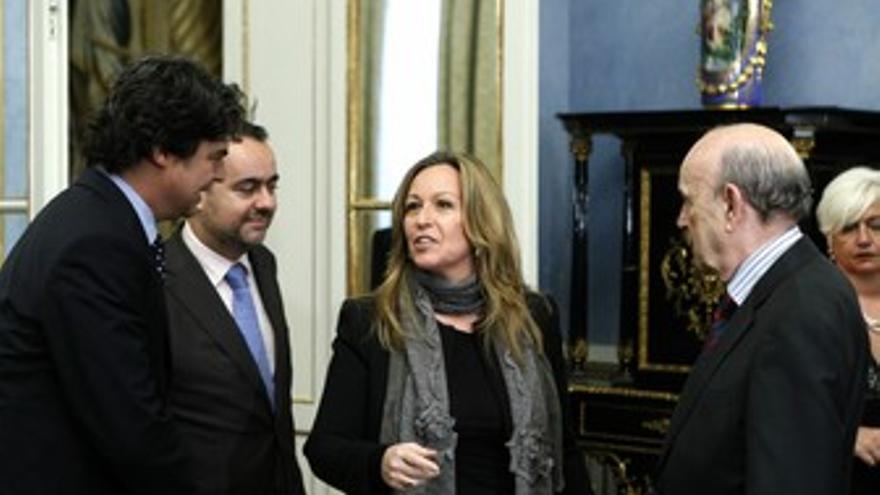 Trinidad Jiménez y coordinador de Presidencia y de Relaciones Internacionales de