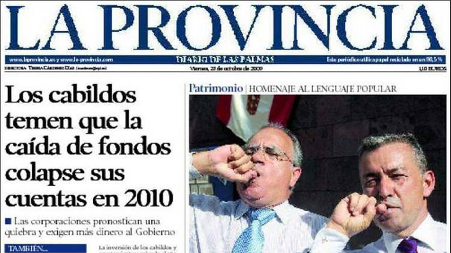 De las portadas del día (23/10/2009) #7