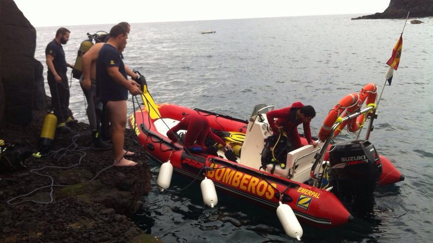 En la imagen, el grupo subacuático de Bomberos La Palma. Foto: CARLOS ACIEGO.