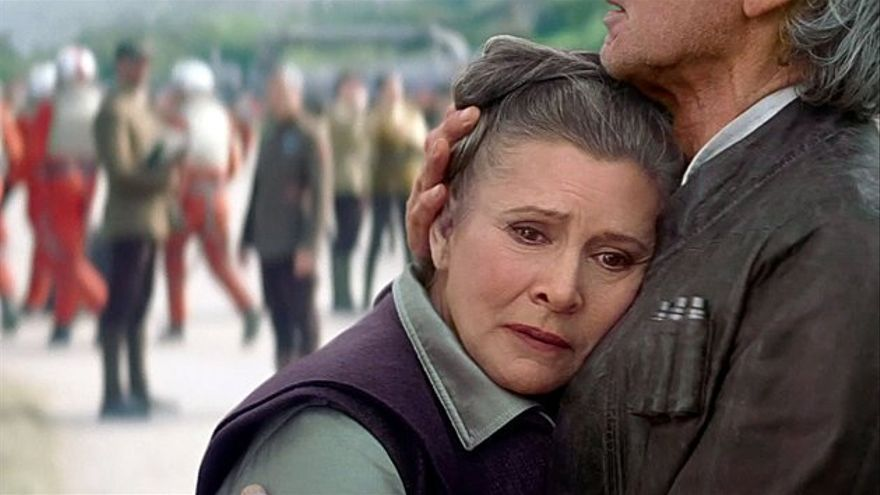 Carrie Fisher como la General Organa en Star Wars VII
