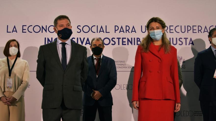 """Yolanda Díaz define la economía social como un """"verdadero dique de contención contra la desigualdad"""""""