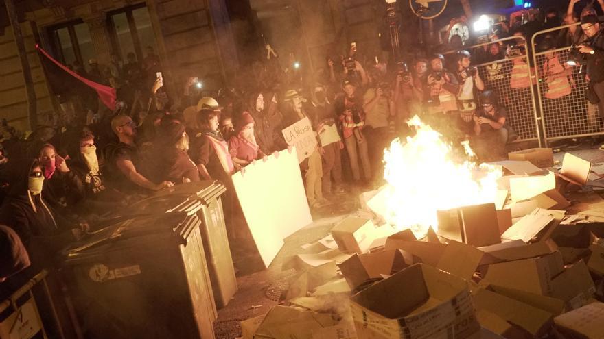 Segunda jornada de protestas contra la sentencia del procés