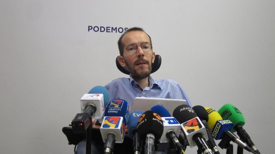 """Echenique dice que el acuerdo Podemos-IU y el pacto Rivera-Sánchez serán """"claves"""" en los comicios"""