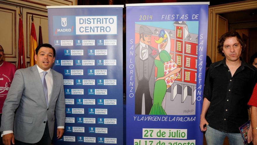 El concejal Erguido en la presentación de las fiestas de San Cayetano en 2014.
