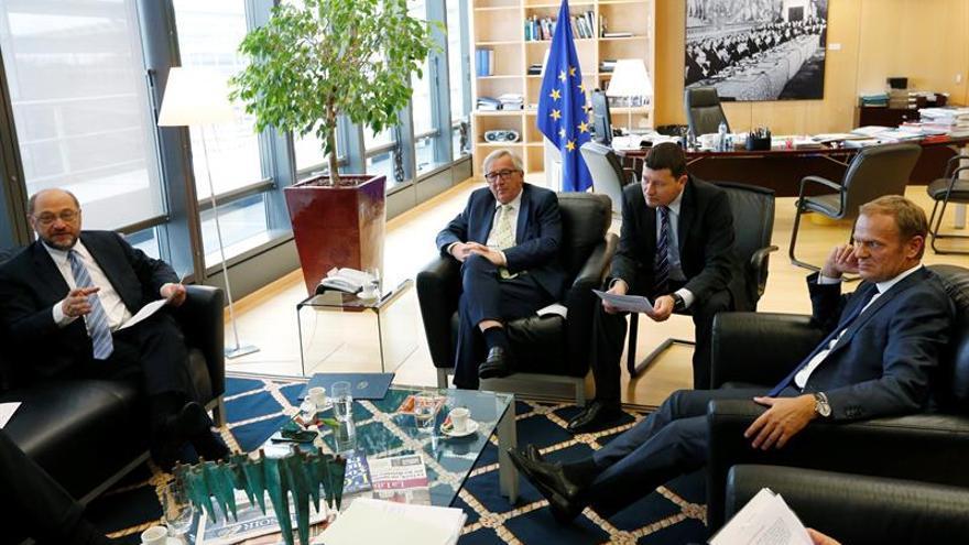"""Schulz y Juncker tranquilizan a los funcionarios británicos ante el """"brexit"""""""