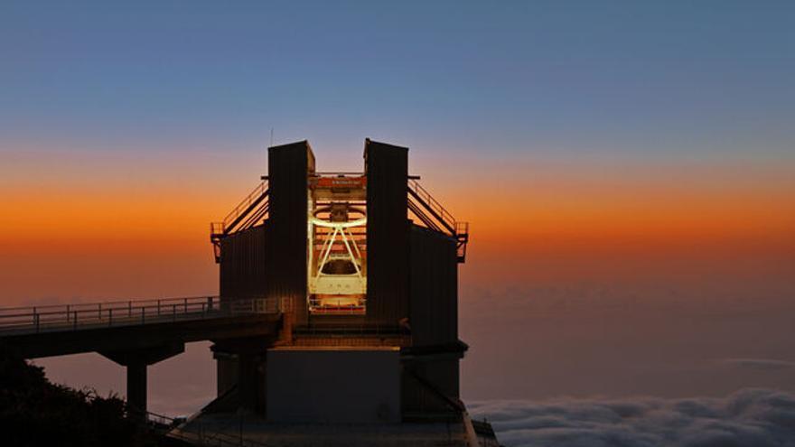 Telescopio Nazionale Galileo ubicado en el Roque de los Muchachos.