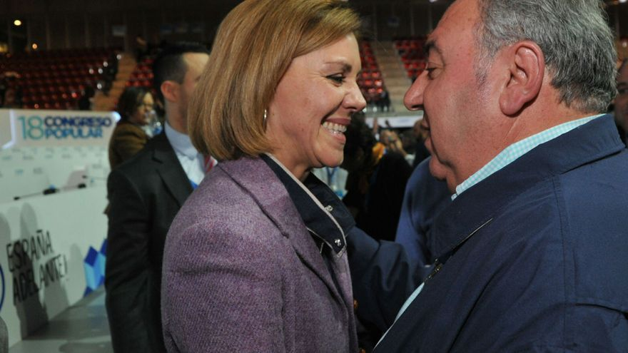 Cospedal y Vicente Tirado en el congreso nacional del PP