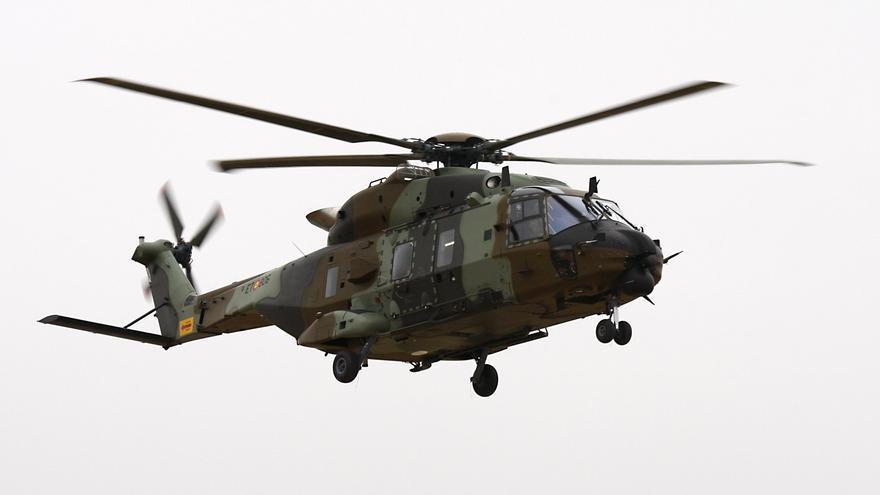 Un helicóptero NH90 de las Fuerzas Armadas, uno de los modelos a los que se destinarán los 5.000 millones