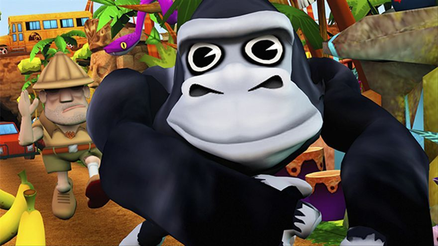 Cartoon Monkey Runner