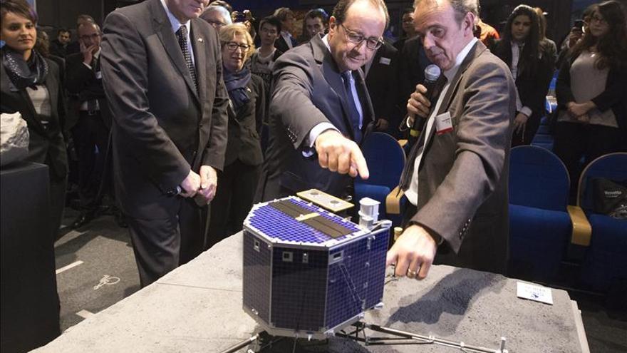 El módulo Philae sigue activo sobre la superficie del cometa tras aterrizar