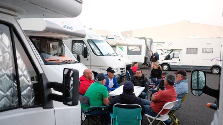 Un centenar de autocaravanas participaron en la III Ruta por Fuerteventura.