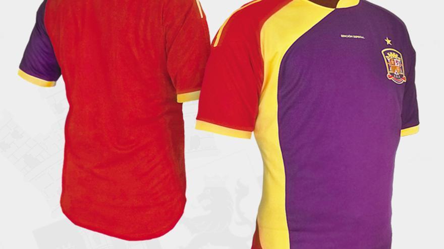 Camiseta de la selección española (en versión republicana) de 198