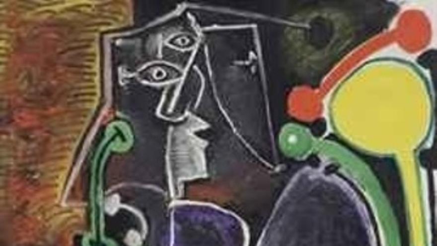 Mujer sentada' de Picasso