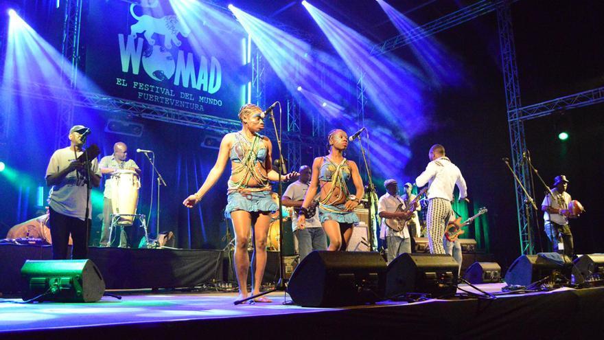 Actuación de Seun Kuti & Egypt 80 durante el Womad Fuerteventura 2014   Iago Otero Paz
