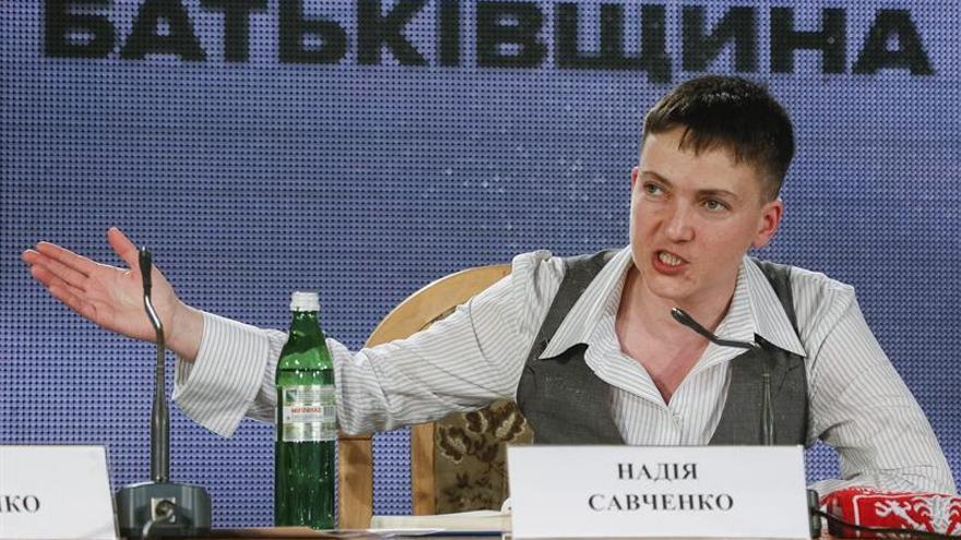 La piloto ucraniana Nadezhda Sávchenko, dispuesta a optar a la Presidencia