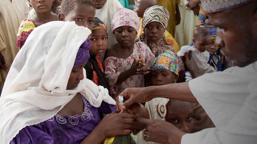 Campaña de vacunación en África. Foto: Fundación Gates.