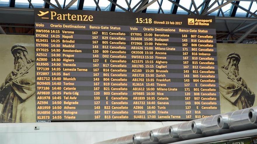 Las huelgas mañana en el sector aéreo italiano obligarán a la cancelación de vuelos