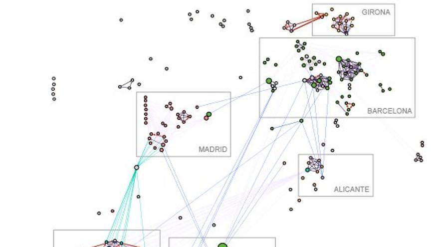 Mapa con todas las detenciones de terroristas en España y sus conexiones territoriales
