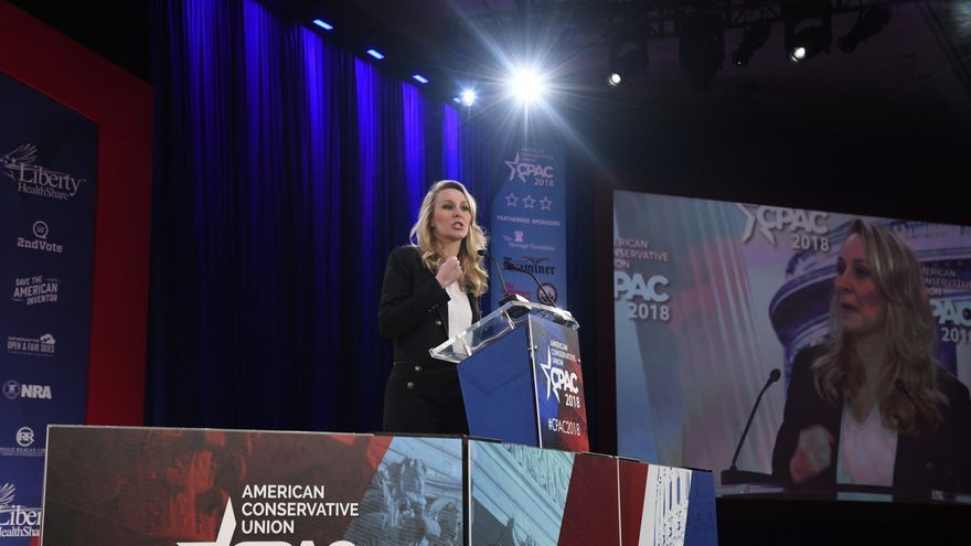 French politician Marion Mar�chal-Le Pen speaks during the Conservative Political Action Conference at the Gaylord National Resort and Convention Center February 22, 2018 in National Harbor, Maryland. Hosted by the American Conservative Union, CPAC is an annual gathering of right wing politicians, commentators and their supporters.