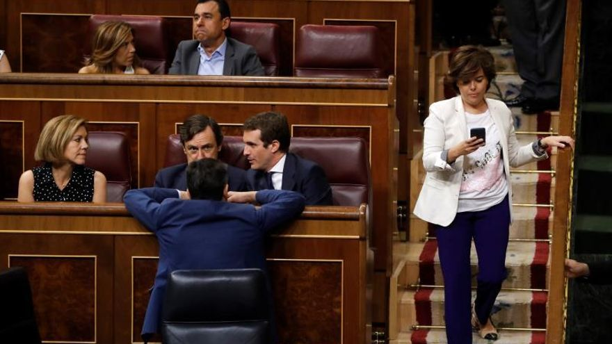 """Pablo Casado """"toma posesión"""" de su escaño de líder del PP"""