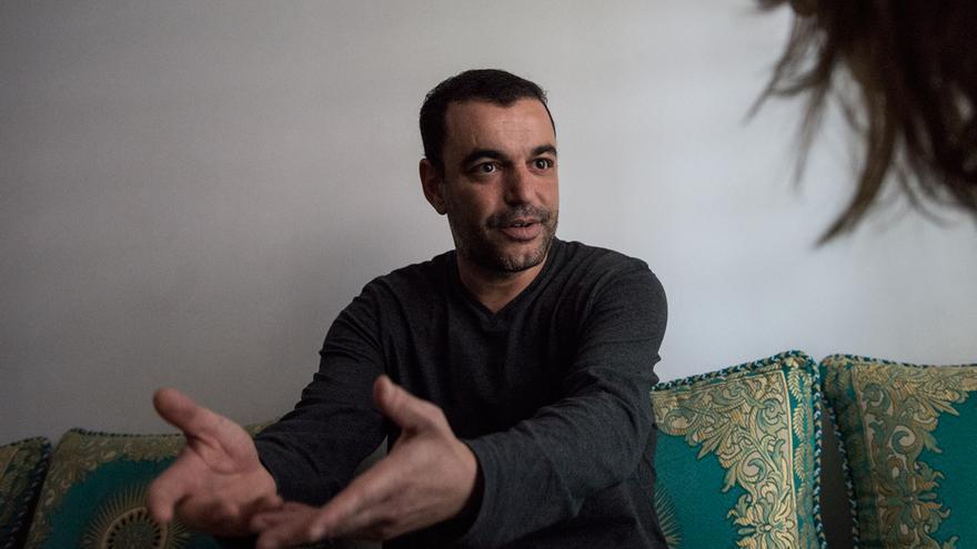 Mohamed, durante la entrevista