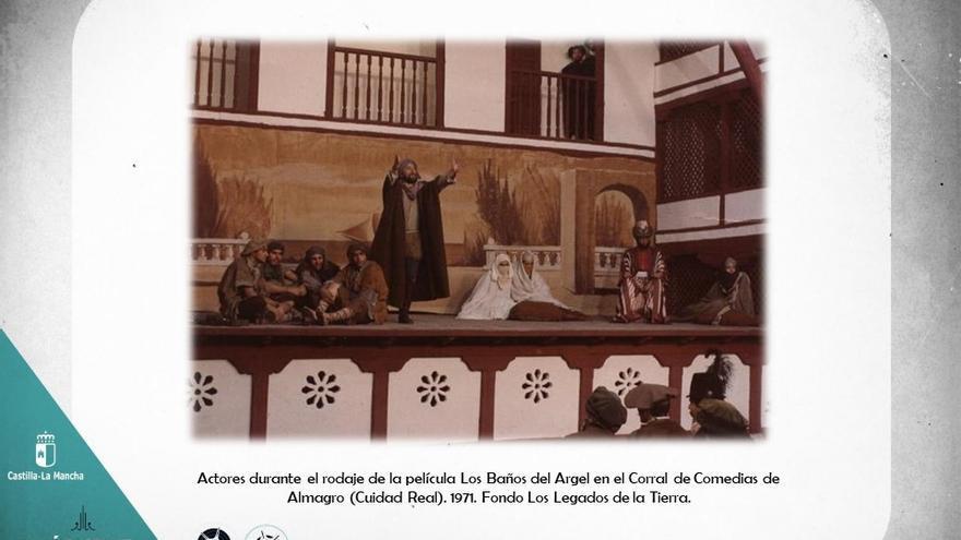 Rodaje de la película Los Baños del Argel en el Corral de Comedias de Almagro. 1977