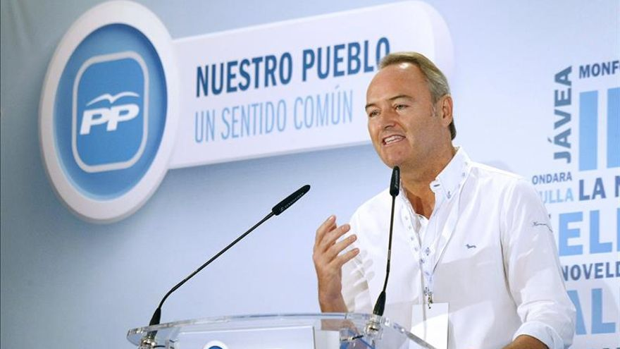 Alberto Fabra, en un acto del PP.