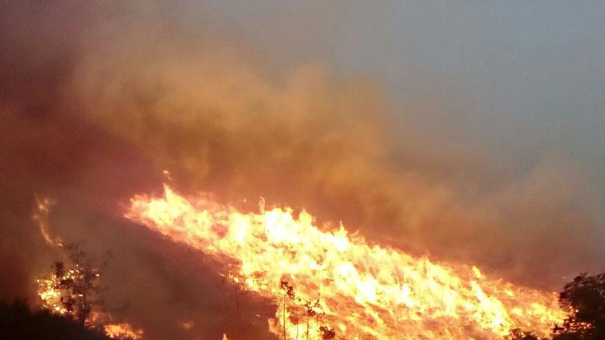 Fuego en Cervantes (Lugo) el pasado 16 de octubre