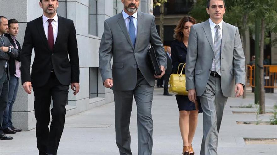 Trapero, a su llegada a la Audiencia Nacional para declarar.