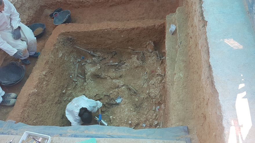 El equipo de antropólogos encuentra 10 cuerpos en la fosa 113 de Paterna