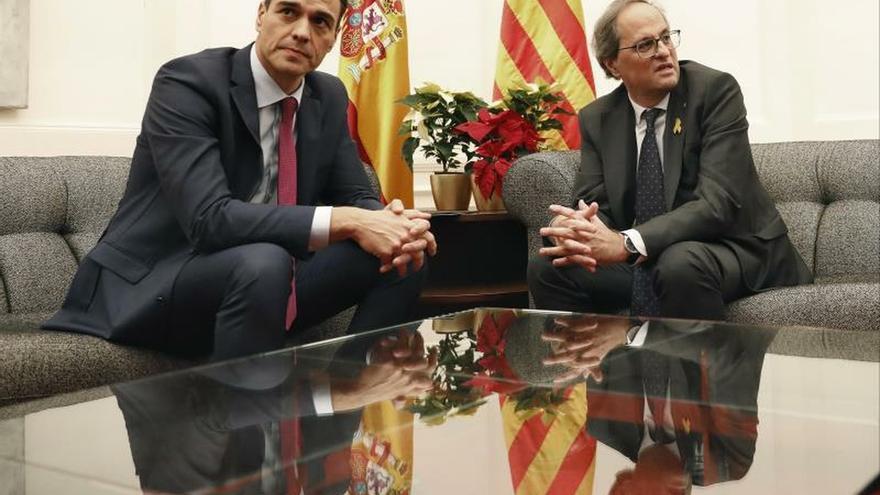 Sánchez lleva a la reunión con Torra temas como financiación o infraestructuras