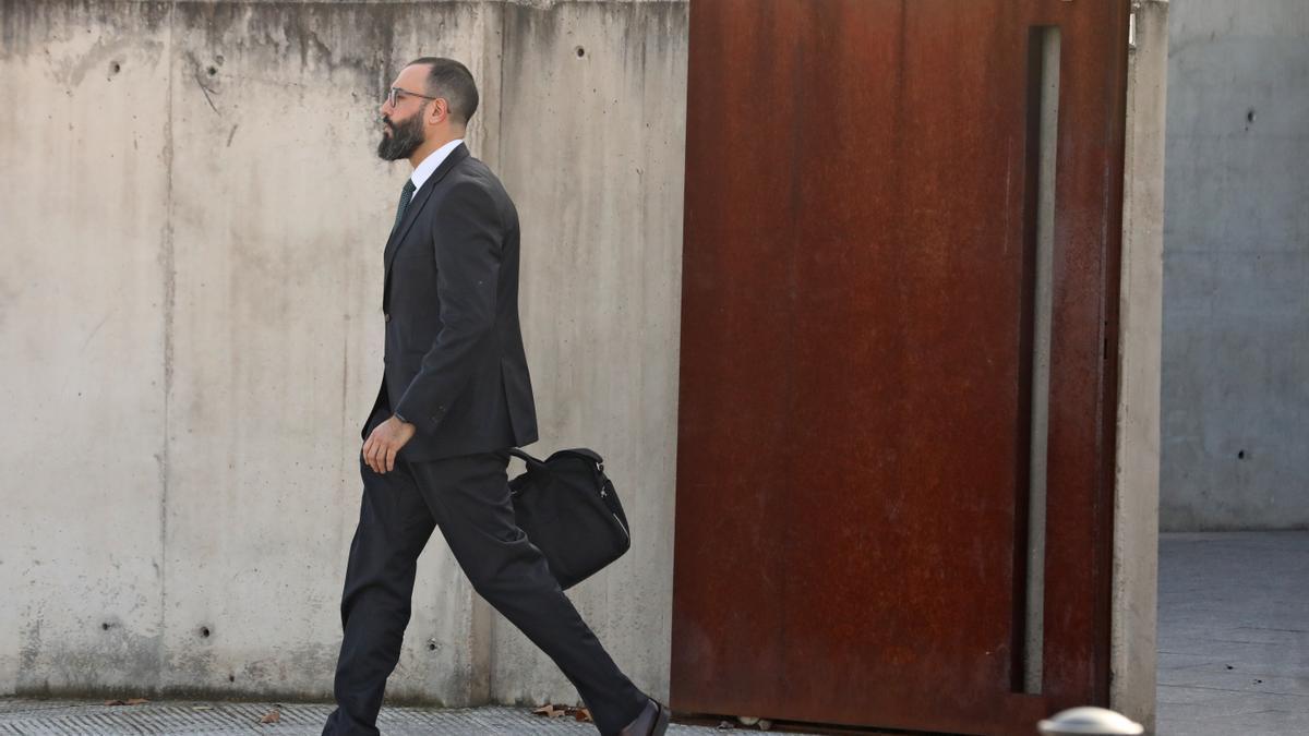 Archivo - El teniente coronel de la Guardia Civil que investigó el 1-O, Daniel Baena, a su salida de la Audiencia Nacional tras prestar declaración como testigo