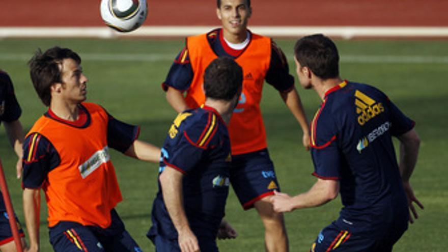 España entrena en Sudáfrica