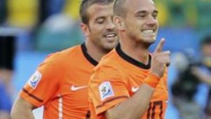 Segunda victoria de Holanda en el Mundial. (EUROPA PRESS)