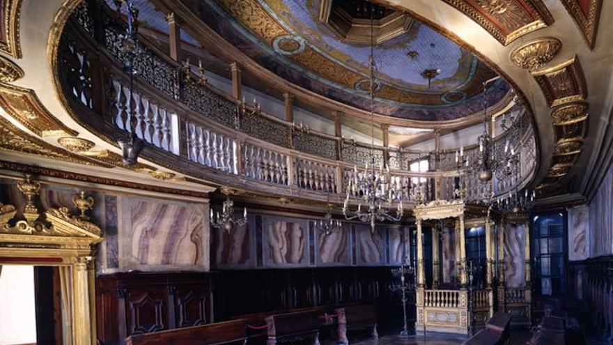 Interior de la Sinagoga Alemana.