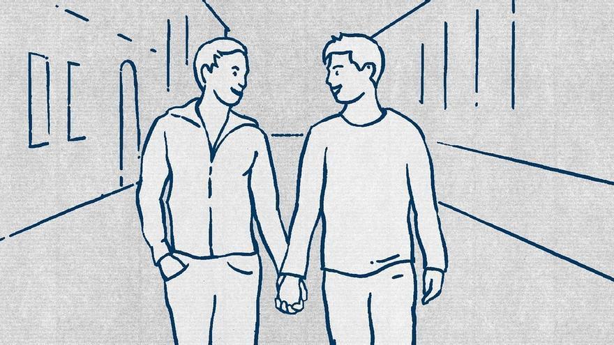 Guía para refugiados: los gays van de la mano.