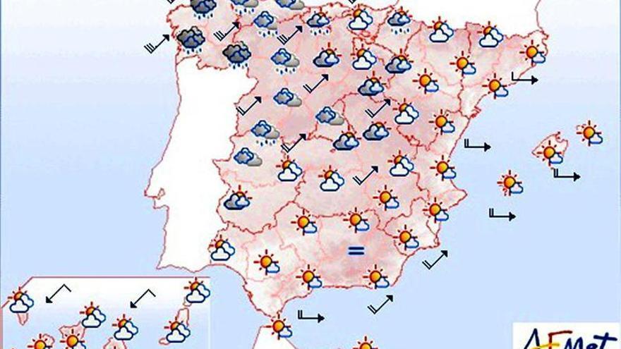 Lluvia y viento fuerte en Galicia y en la cordillera Cantábrica