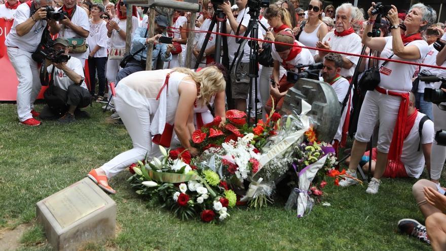 El colectivo Sanfermines 78 Gogoan y las peñas de Pamplona volverán a recordar a Germán Rodríguez el 8 de julio
