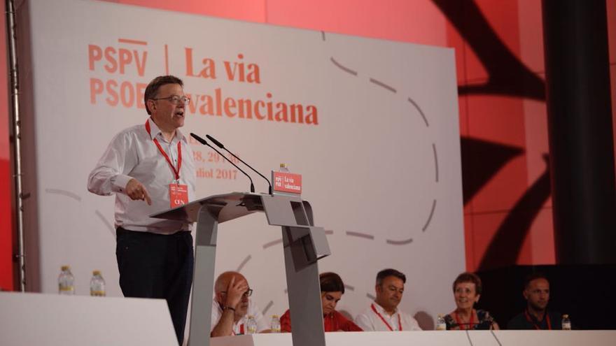 Ximo Puig se dirige a los delegados en el 13º congreso del PSPV-PSOE.