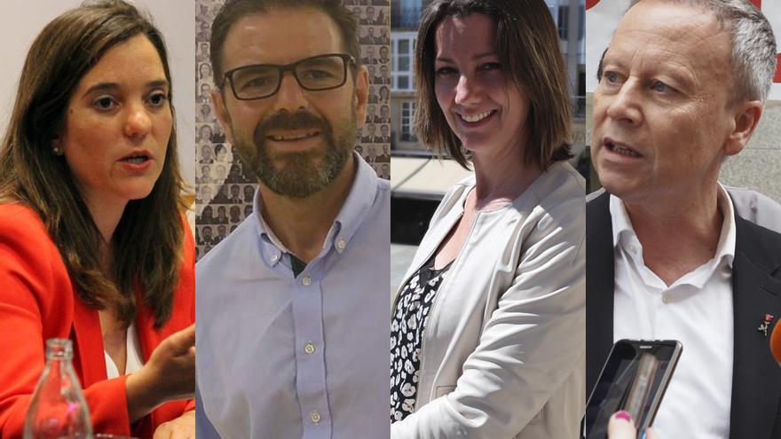 Inés Rey, Ángel Mato, Lara Méndez y Rafael R. Villarino, cabezas de lista del PSdeG en A Coruña, Ferrol, Lugo y Ourense