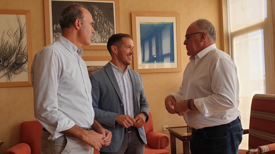Raúl Camacho, Mariano H. Zapata y Carlos Cabrera.