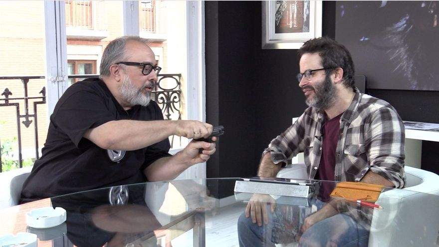 Álex de la Iglesia con Edu Galán. Foto: Alejandro Navarro