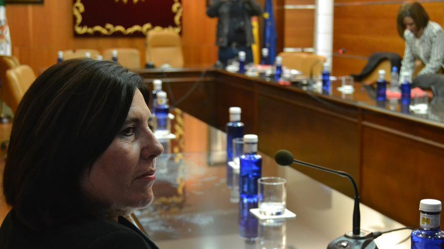 María Fernández Conejo, al final de la sesión   N.C.
