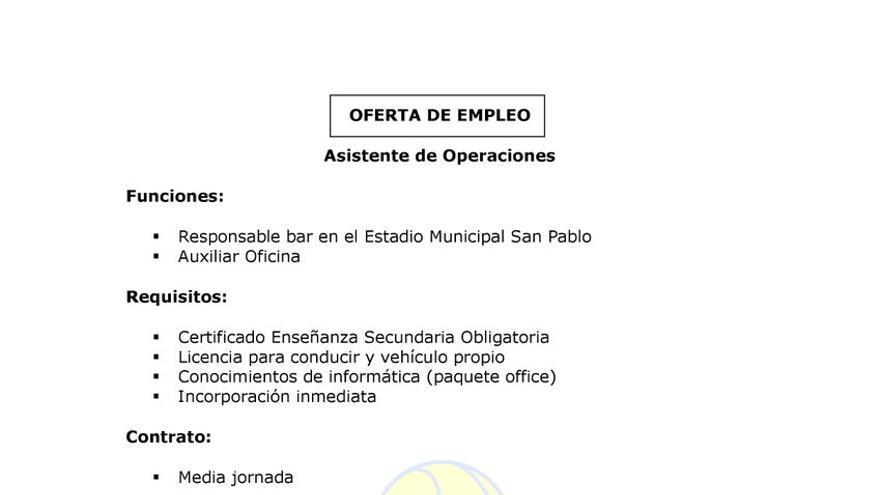 El Écija Balompié lanza una oferta de trabajo exclusiva para hombres para gestionar el bar de su estadio