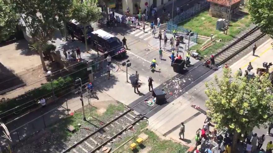 Captura de pantalla de un vídeo de los incidentes publicado por @kulunguelejfn