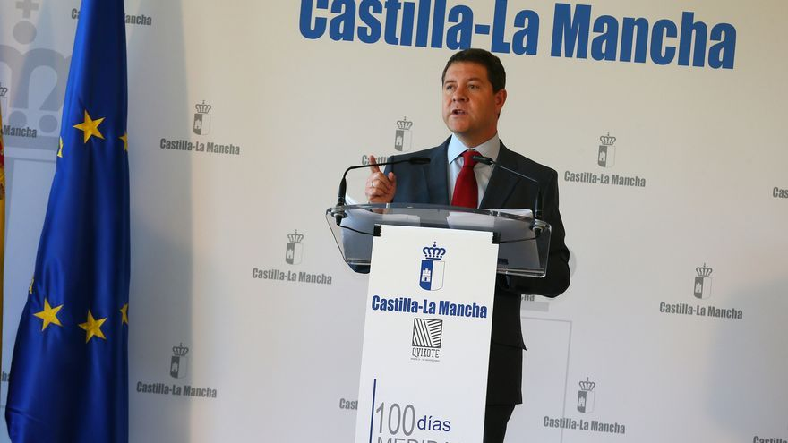 Emiliano García-Page valora sus primeros cien días de Gobierno. Foto: Junta de Comunidades.