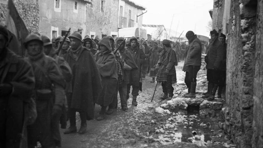 Bloqueo de las tropas franquistas por la lluvia y la nieve en Cogolludo. 11 de marzo de 1937