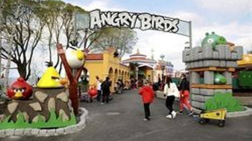Uno de los seis parques temáticos Angry Birds que existen en el mundo.