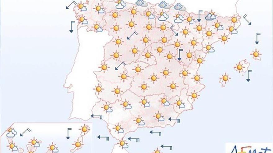 Hoy, viento fuerte en Gerona, Menorca, Estrecho, Alborán y costa gallega