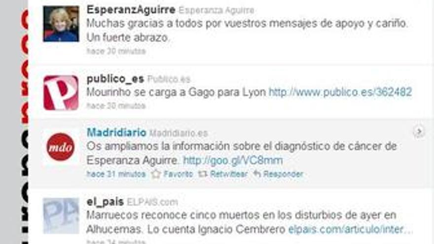 Aguirre en Twitter